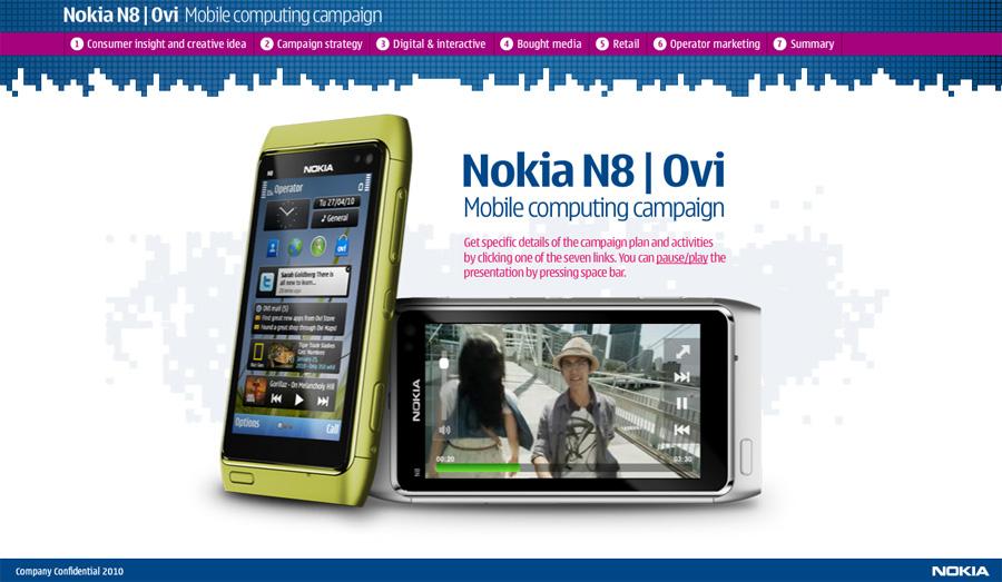 Presentaatiotyökalun koodaus Nokia N8